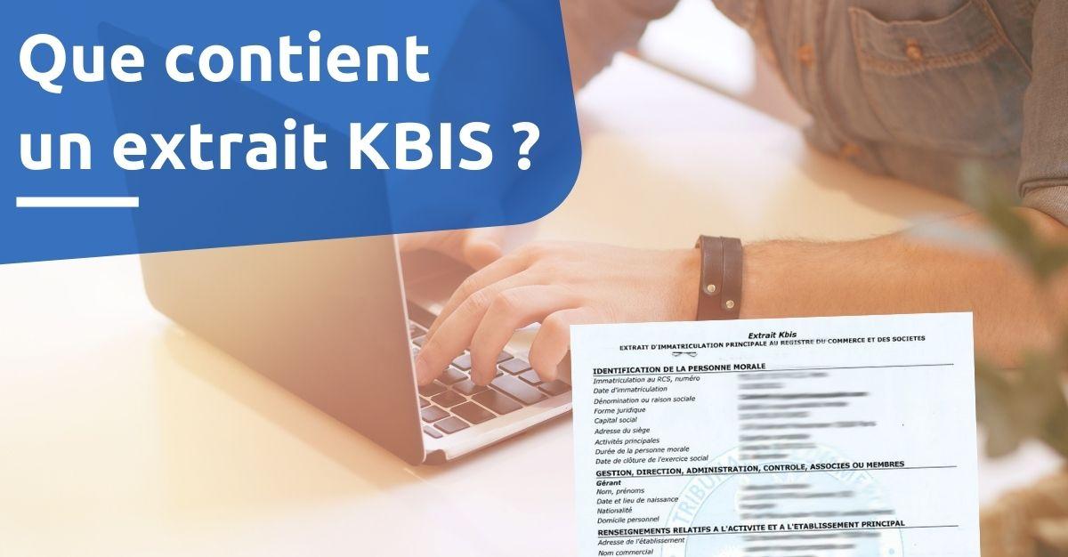 que contient un extrait KBIS ?