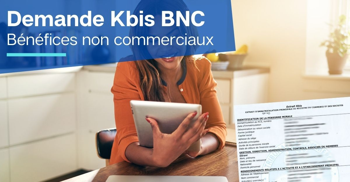 KBIS BNC bénéfices non commerciaux