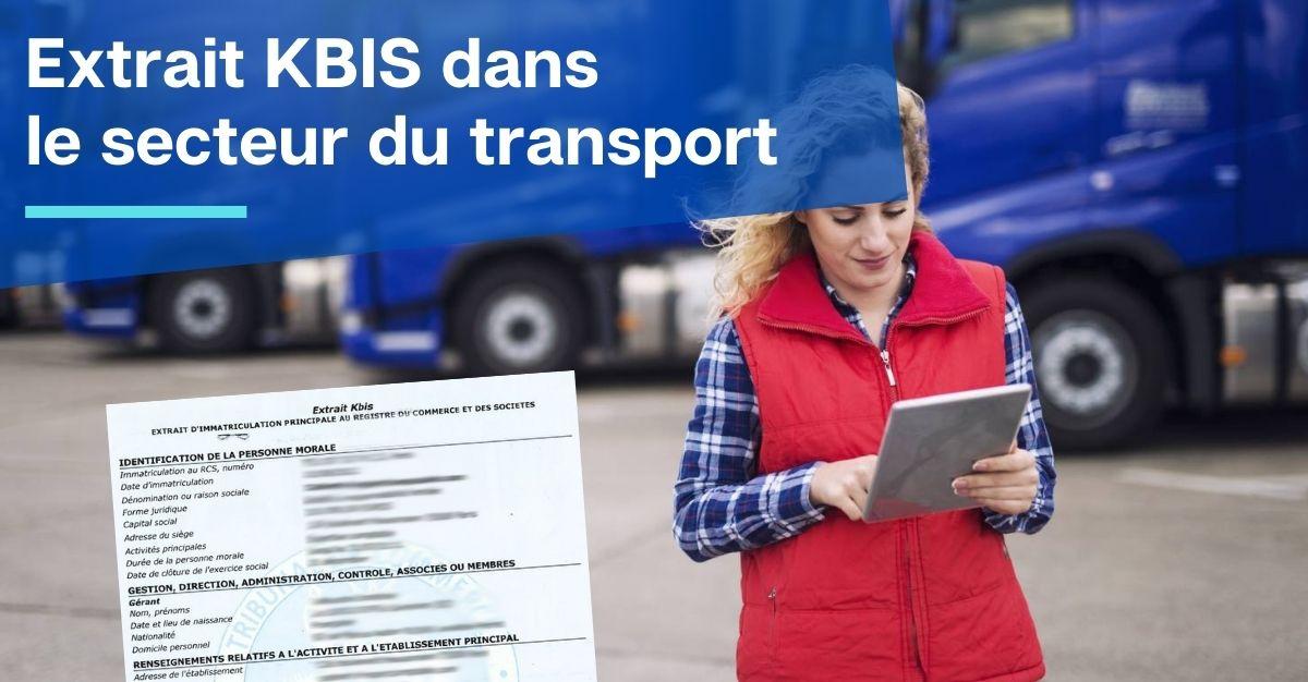extrait kbis transport