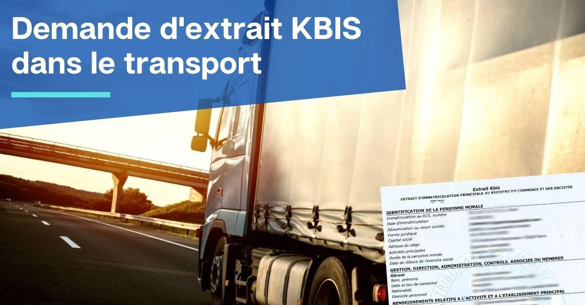demande d'extrait KBIS dans le transport