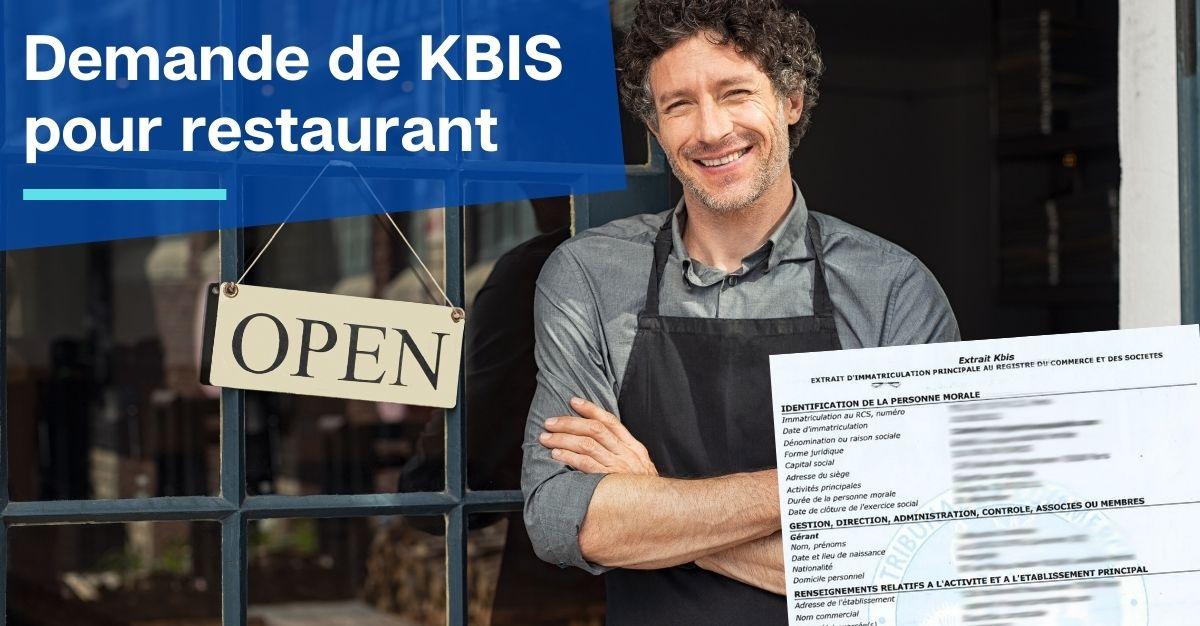demande kbis restaurant