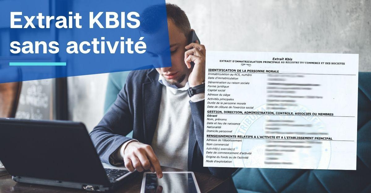 kbis sans activité