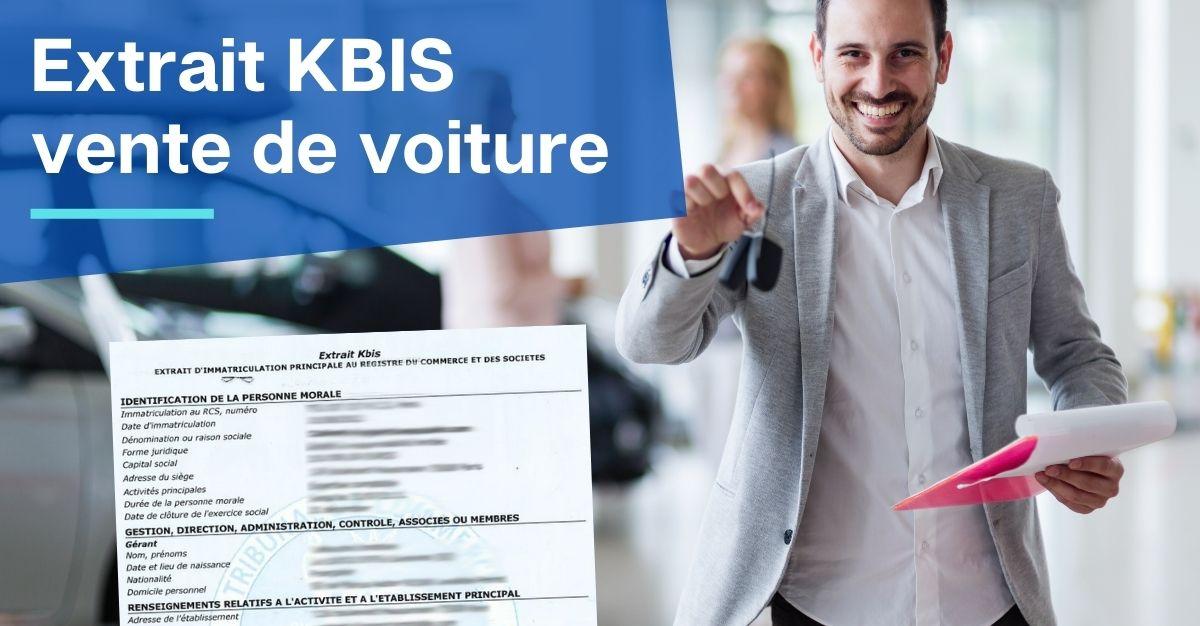 extrait KBIS vente de voiture