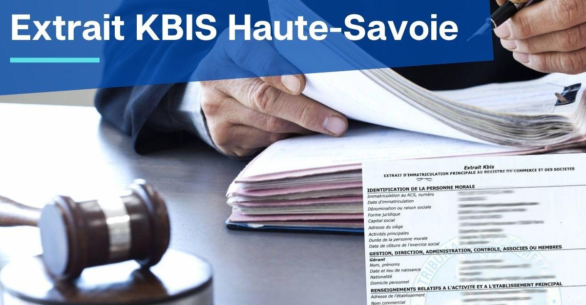 Extrait KBIS Haute-Savoie