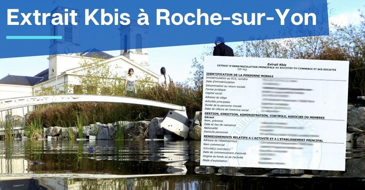 Extrait Kbis à La Roche-sur-Yon