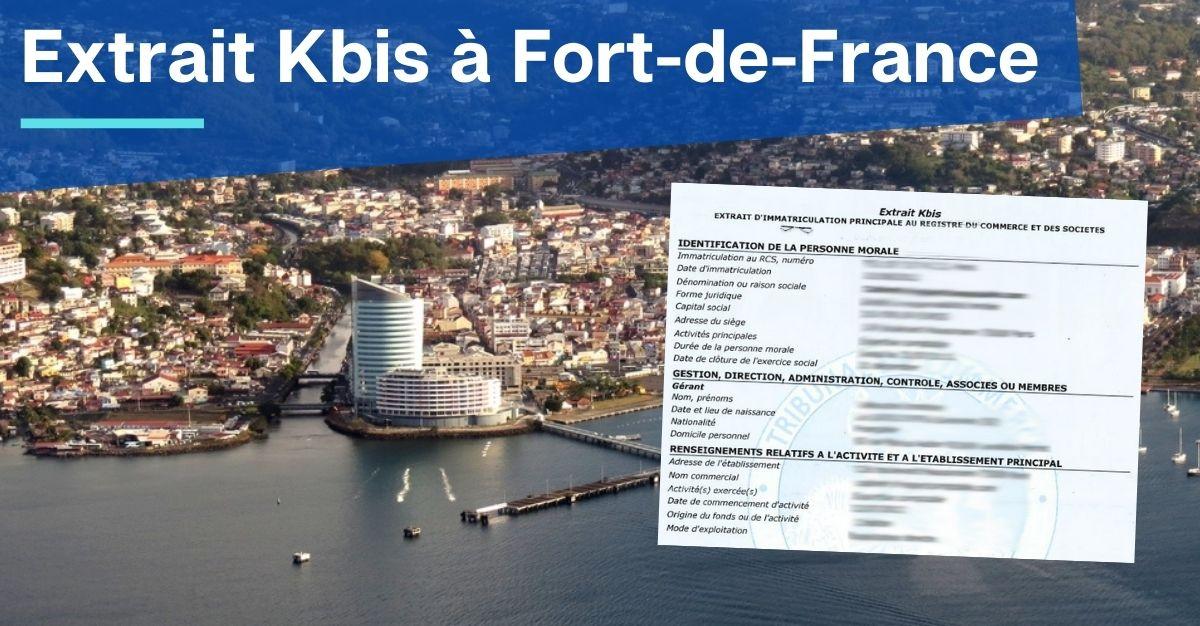Extrait Kbis à Fort-de-France