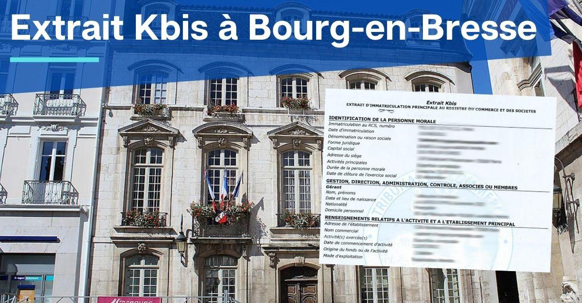 Extrait Kbis à Bourg-en-Bresse