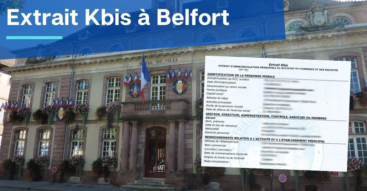 Extrait Kbis à Belfort