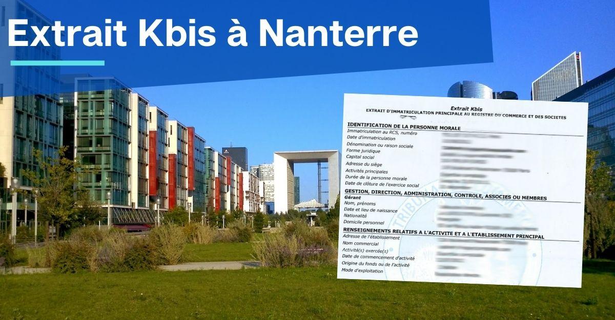 Extrait Kbis à Nanterre