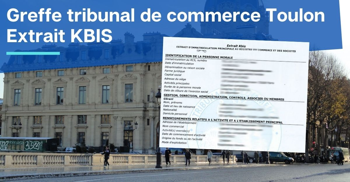Greffe tribunal de commerce Toulon KBIS