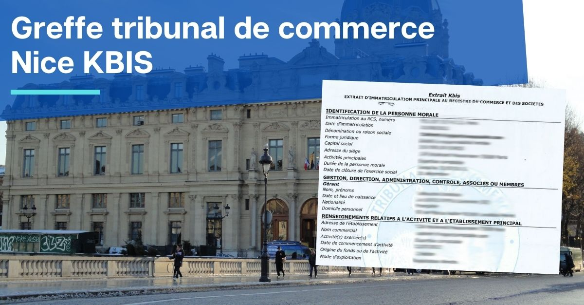 Greffe tribunal de commerce Nice KBIS