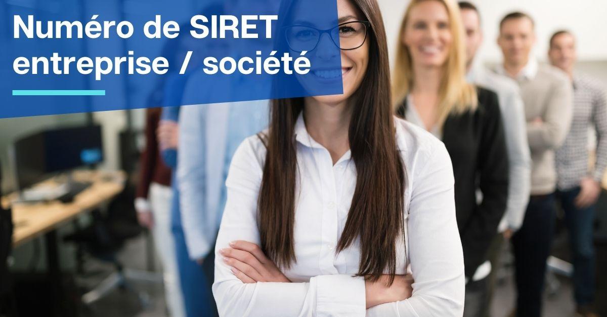 Numéro de SIRET entreprise  société