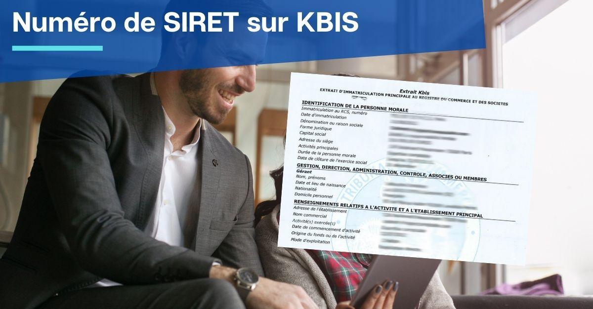 numéro de siret sur kbis