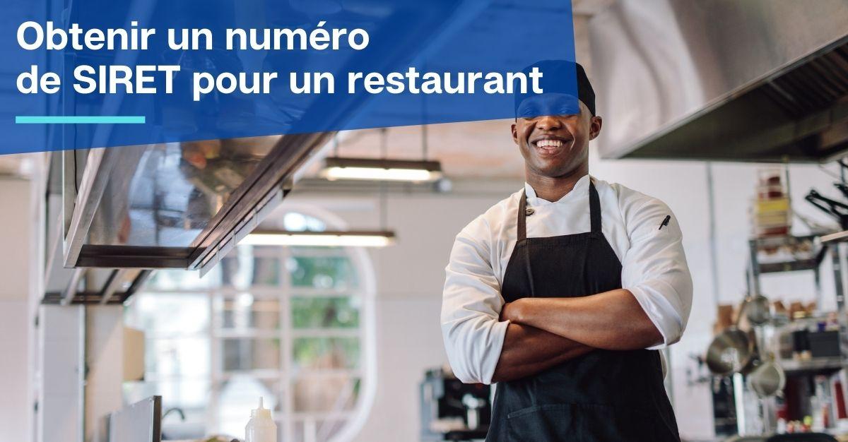 obtenir un numéro de SIRET pour un restaurant
