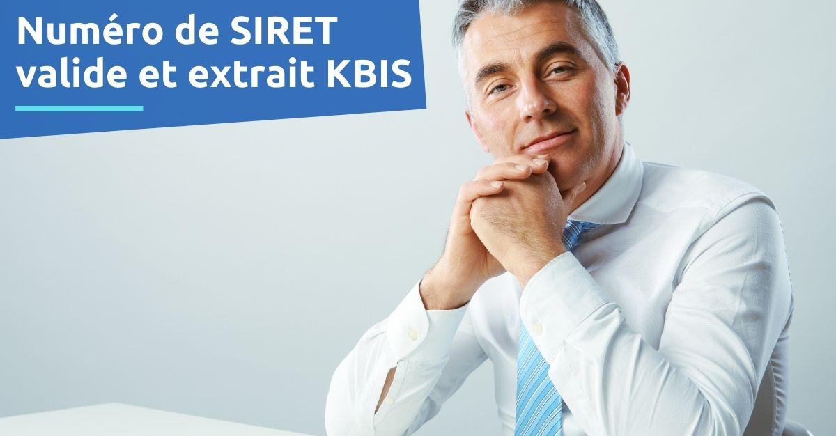 numéro de siret valide extrait kbis