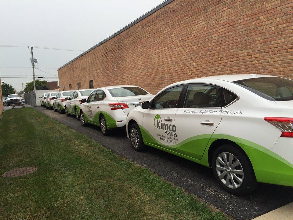 Kimco Services Car Signs