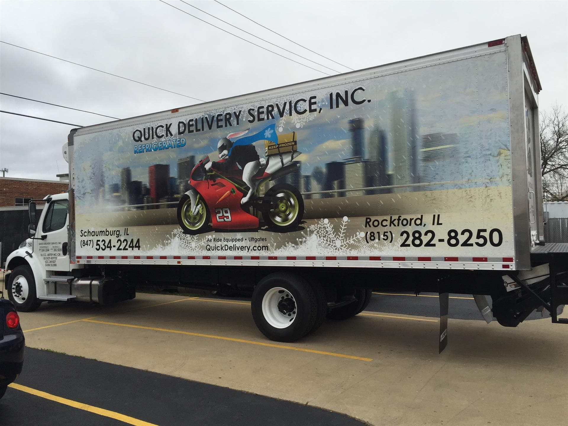 Quick Deliver Service, Inc. Truck Wrap