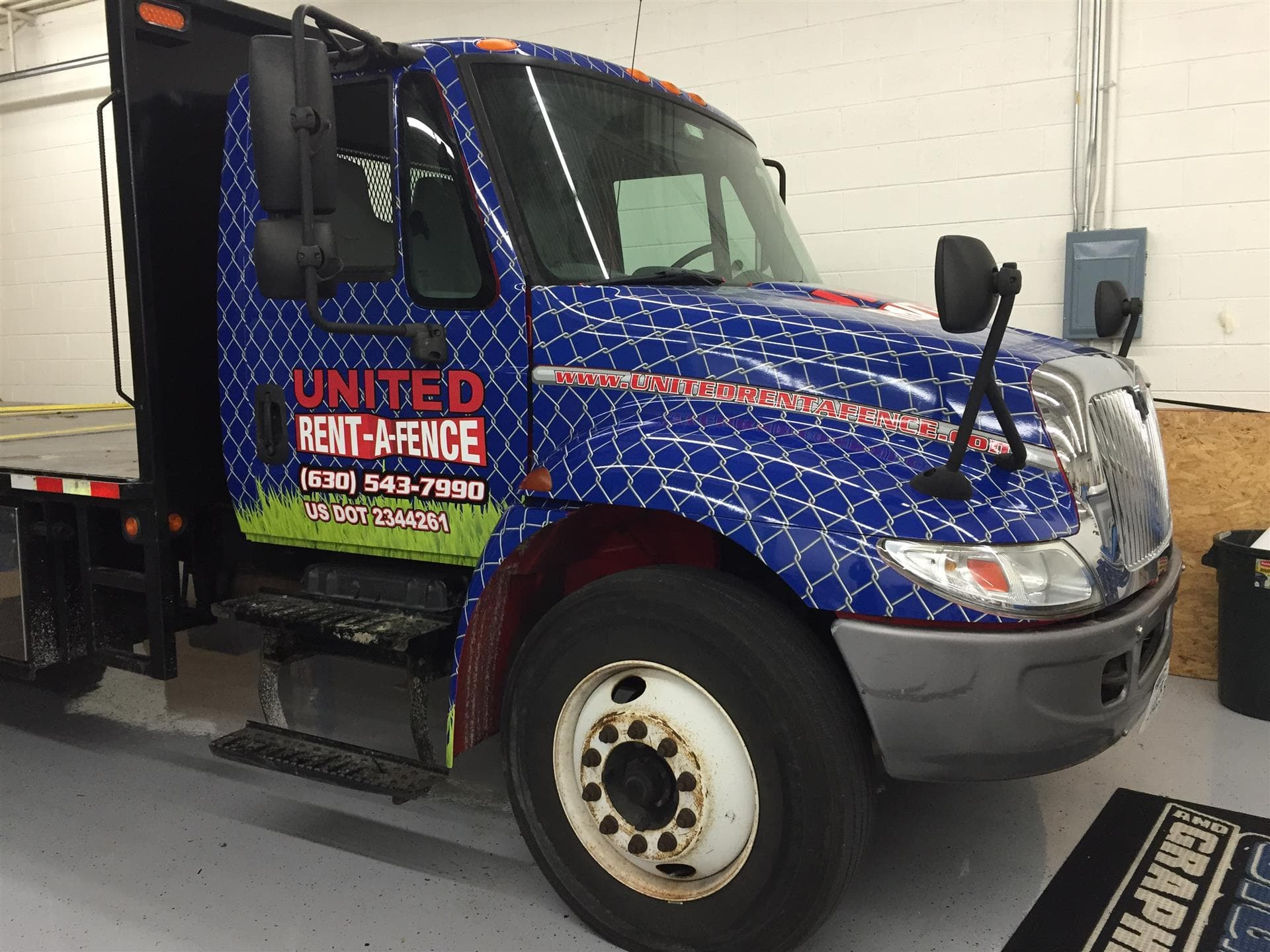 United Rent-a-Fence Truck Wrap