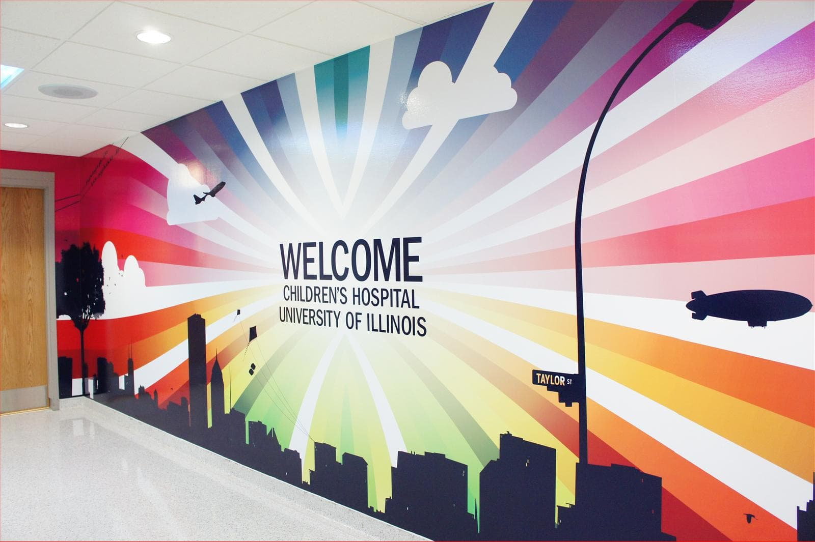 Welcome Children's Hospital University of Illinois Wall Sign