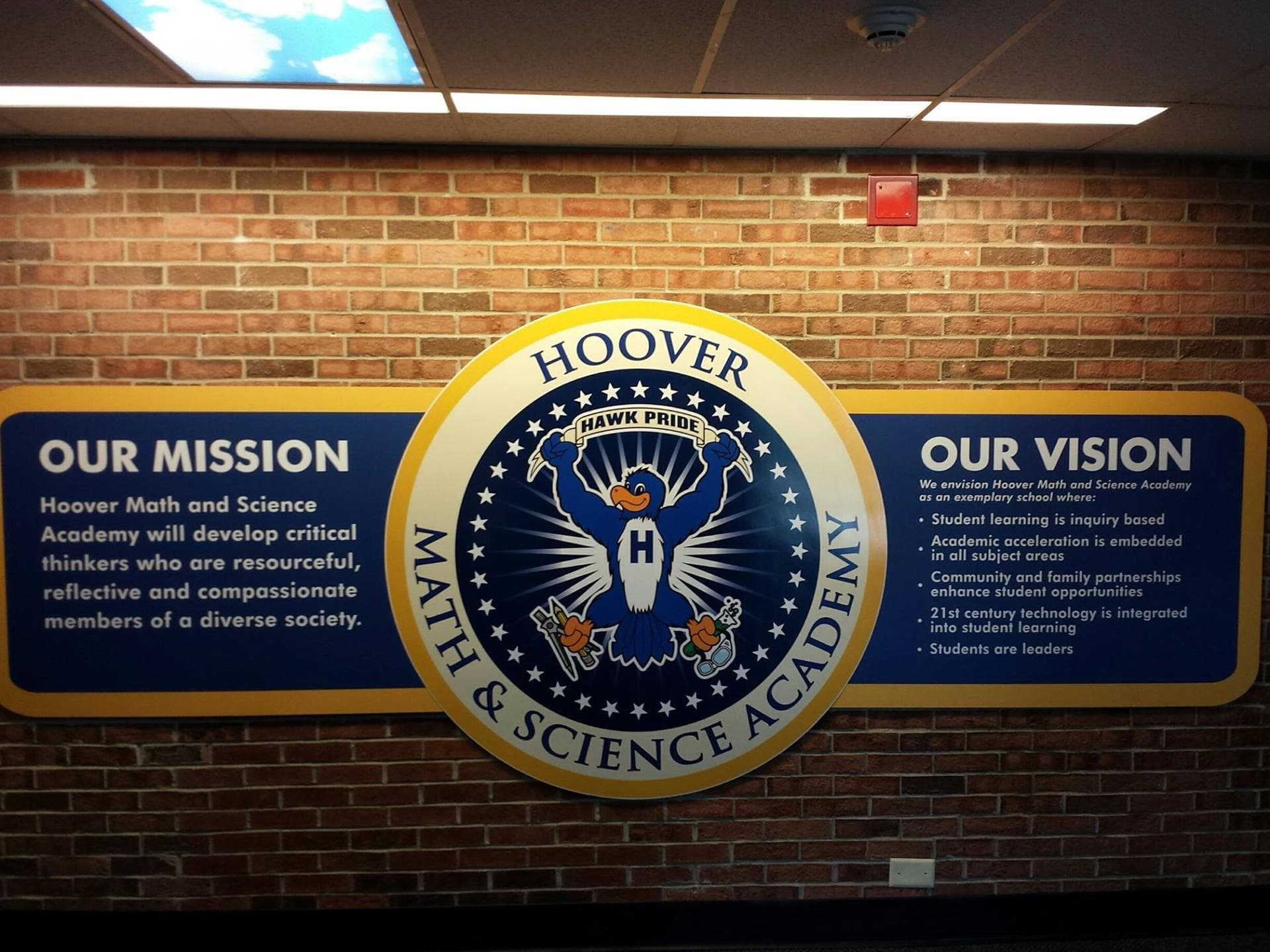 Hoover Math & Science Academy Interior Sign