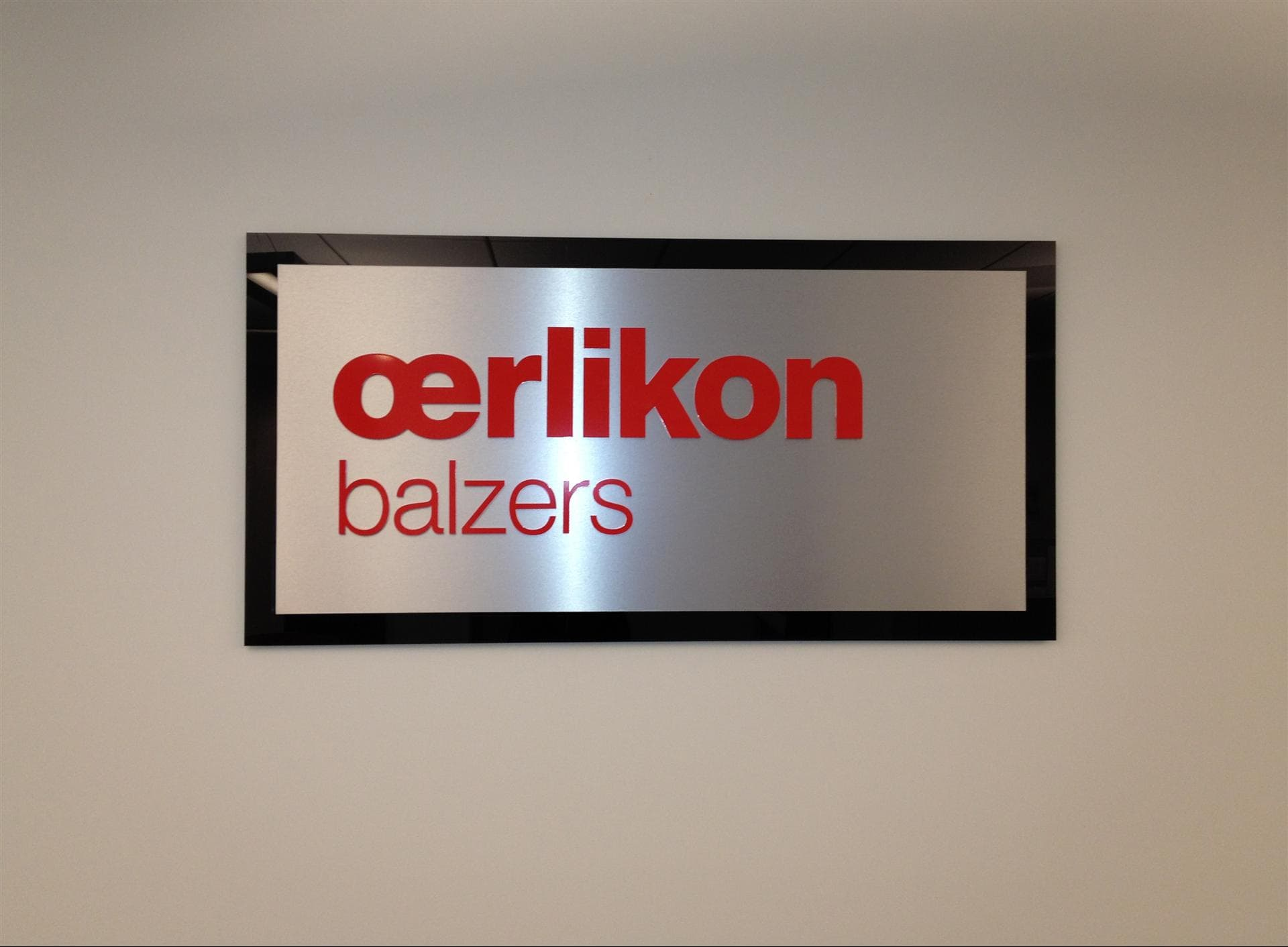 Oerlikon balzers Wall Sign