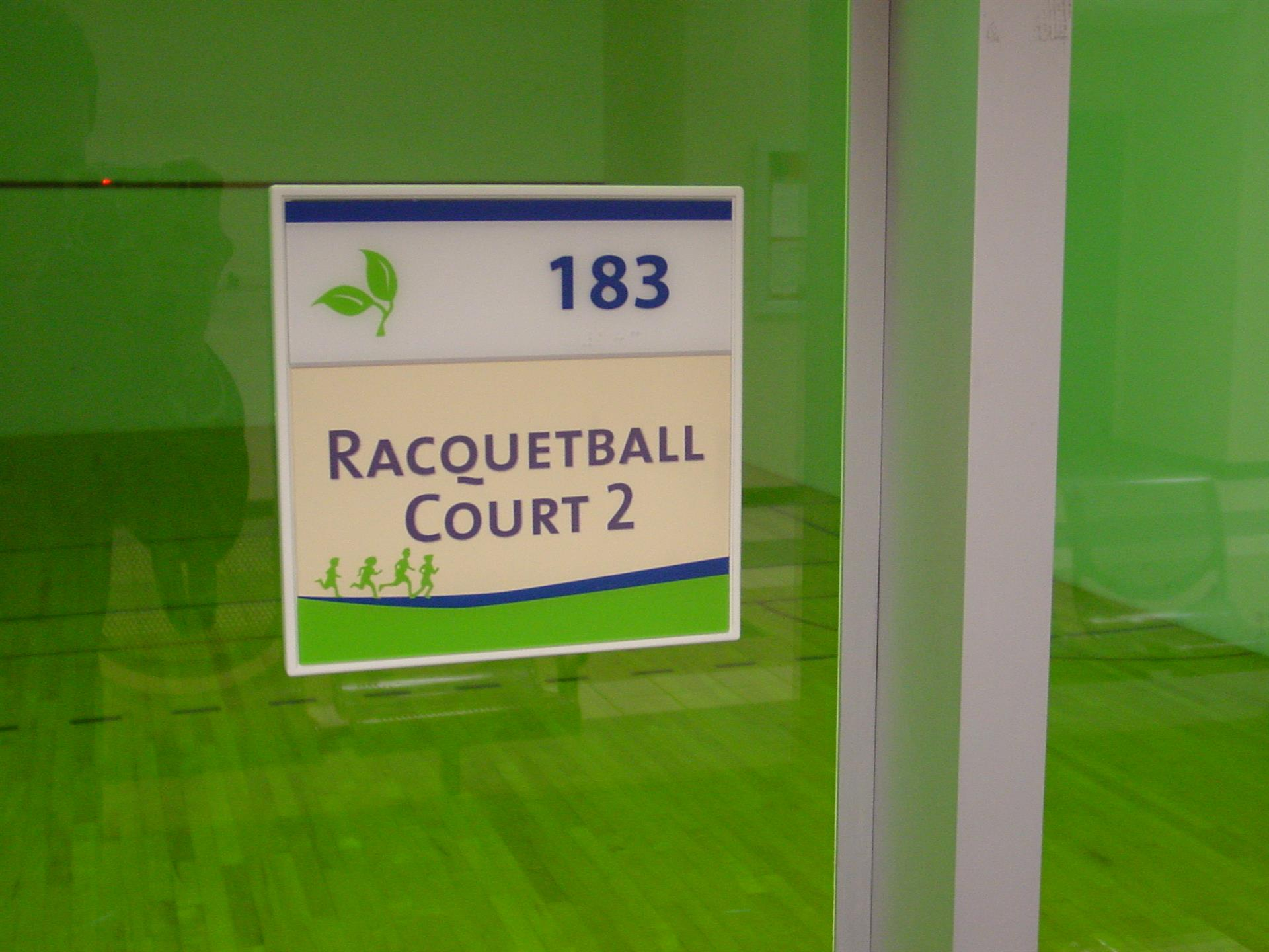 Racquetball Court 2 Sign