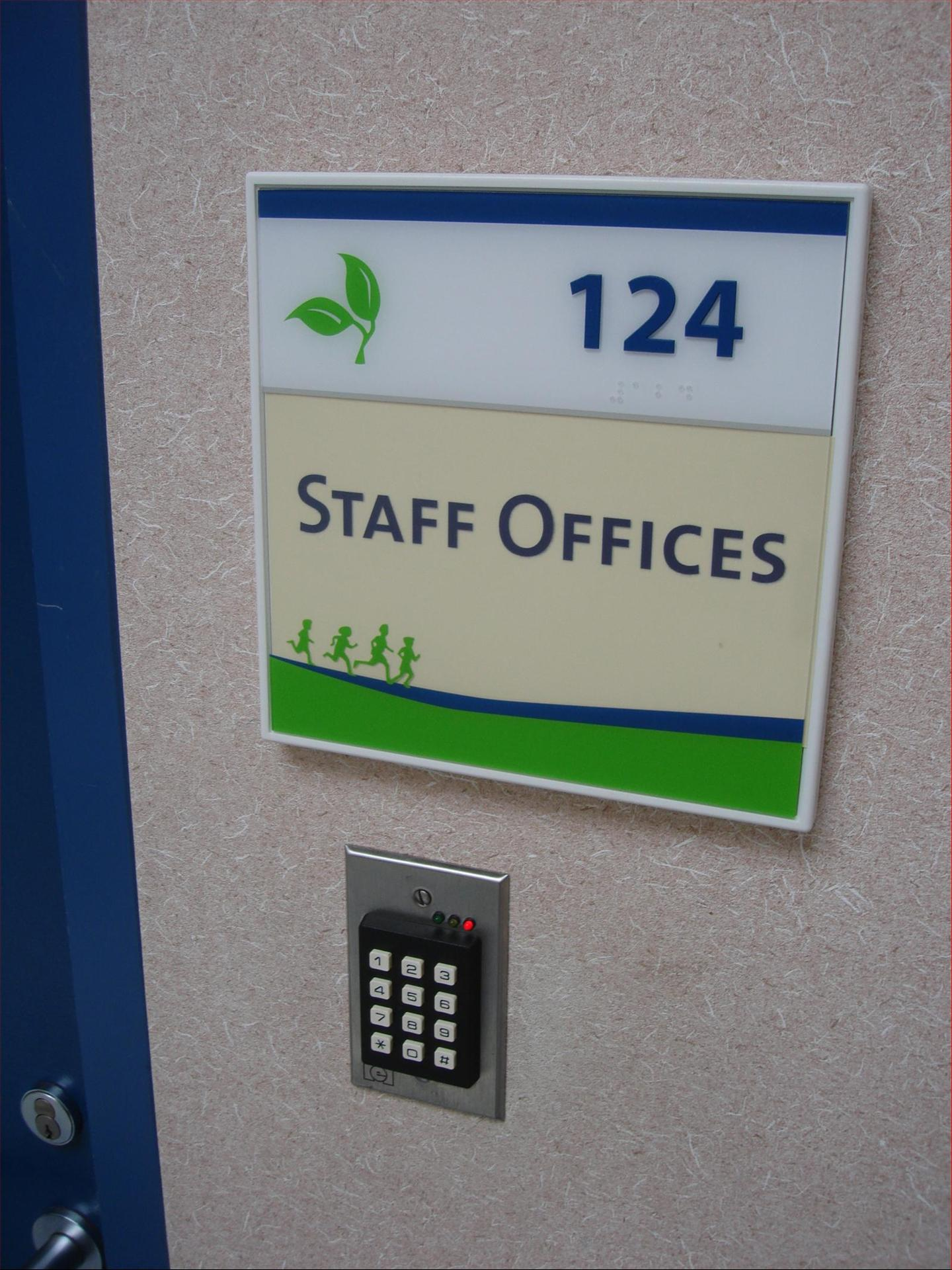 Staff Offices Environmental Sign