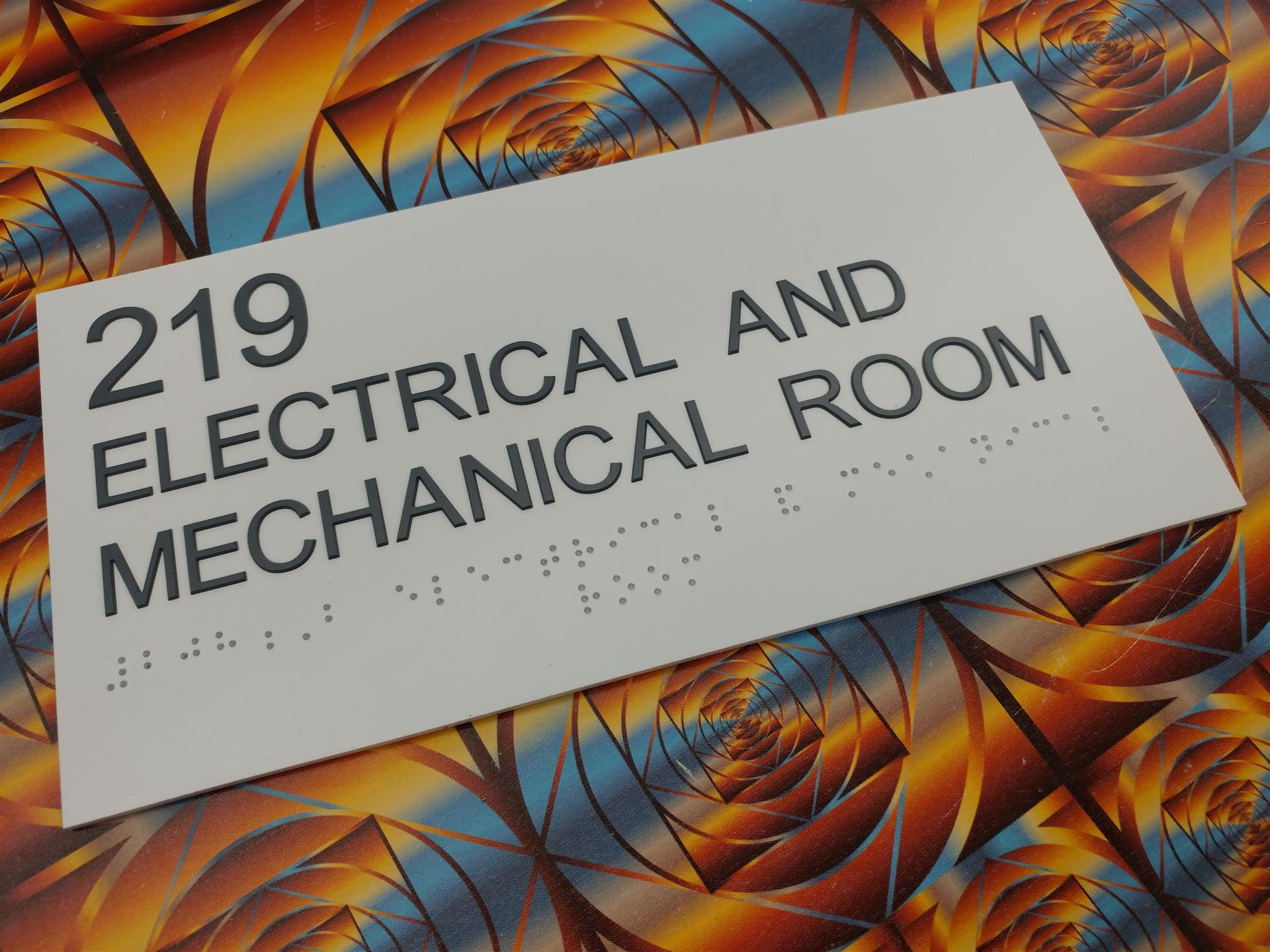 Electrical and Mechanical Room ADA Sign