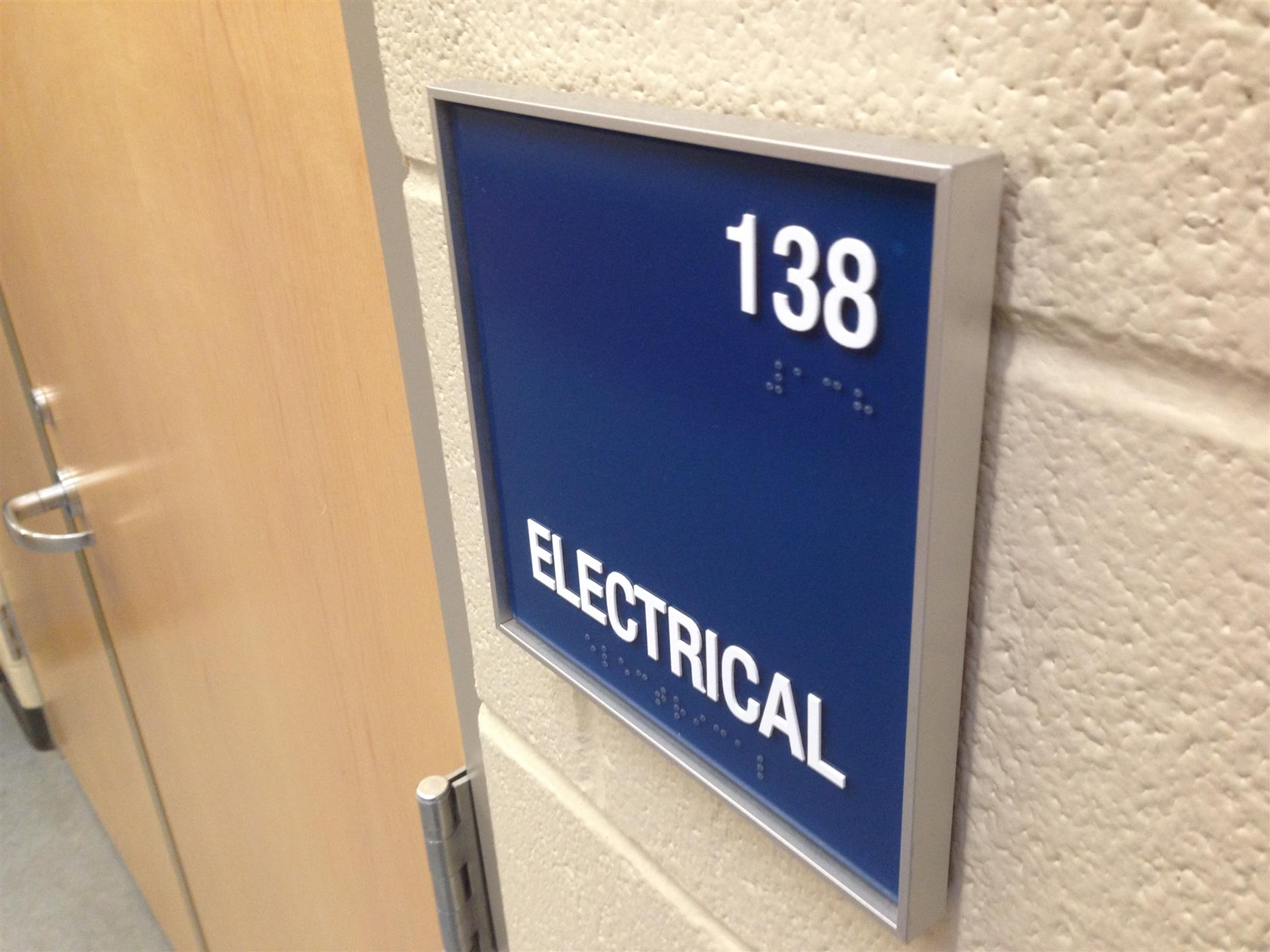 Electrical ADA Sign