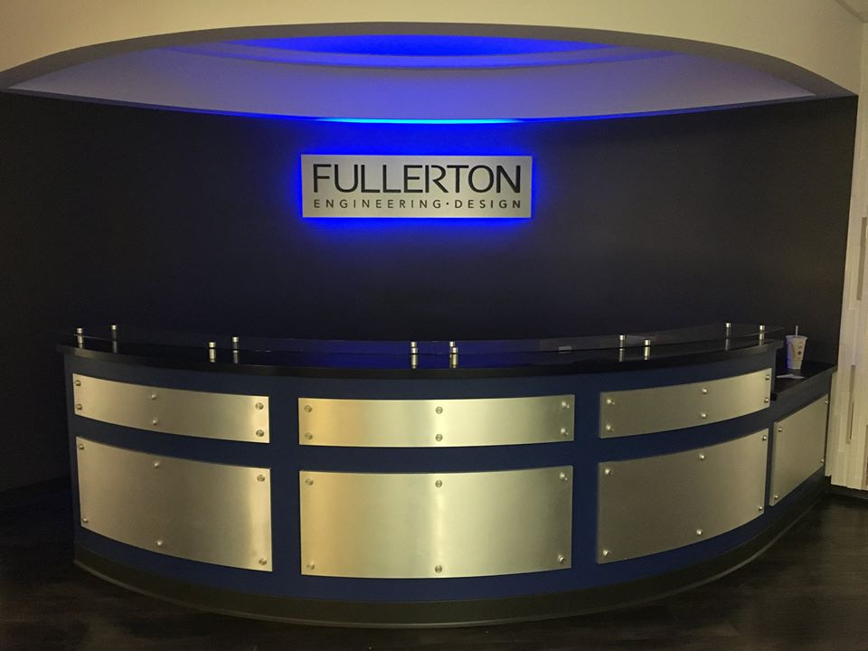 Fullerton Engineering Design Lobby Sign