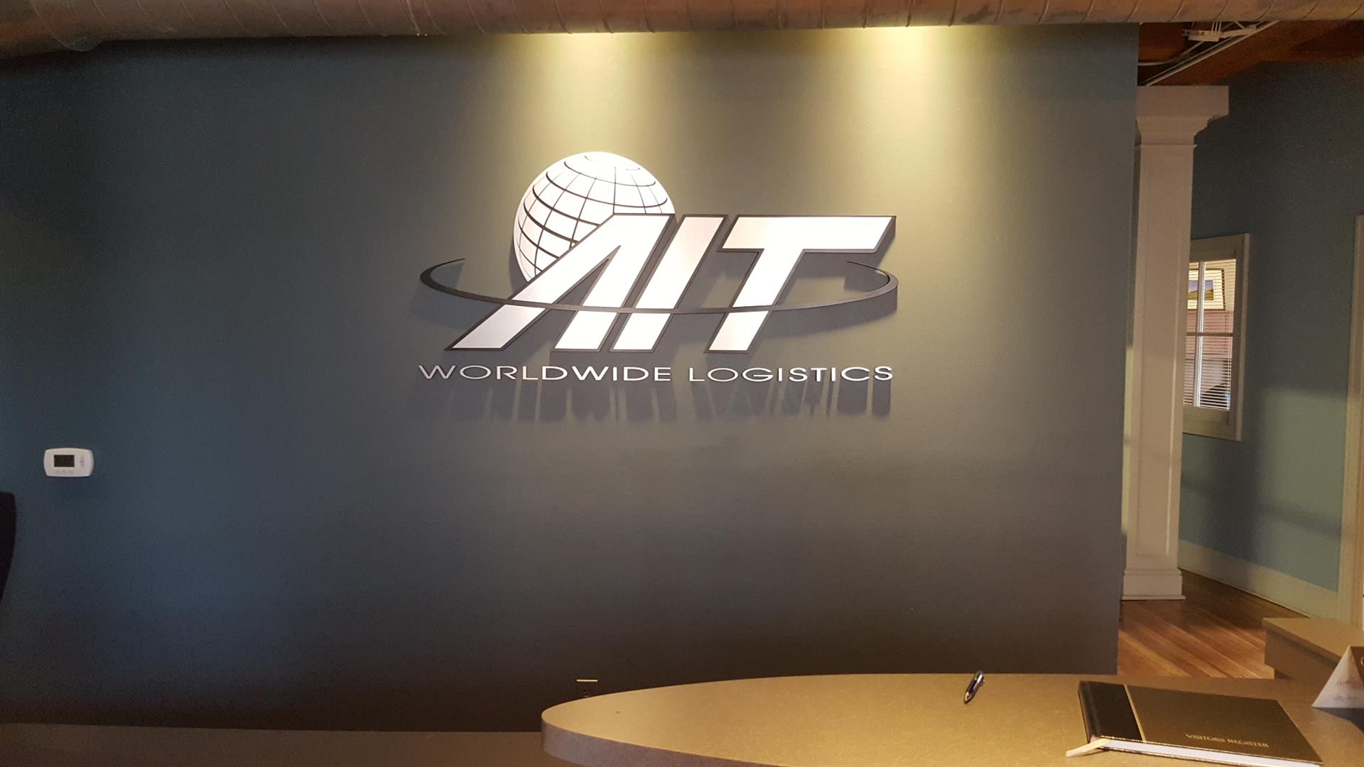 AIT Worldwide Logistics Lobby Sign