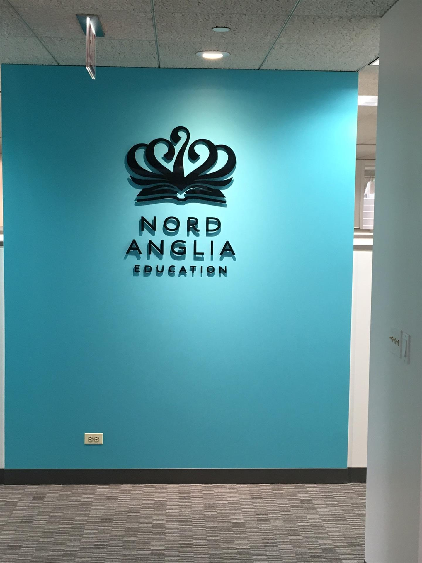Nord Anglia Lobby Sign
