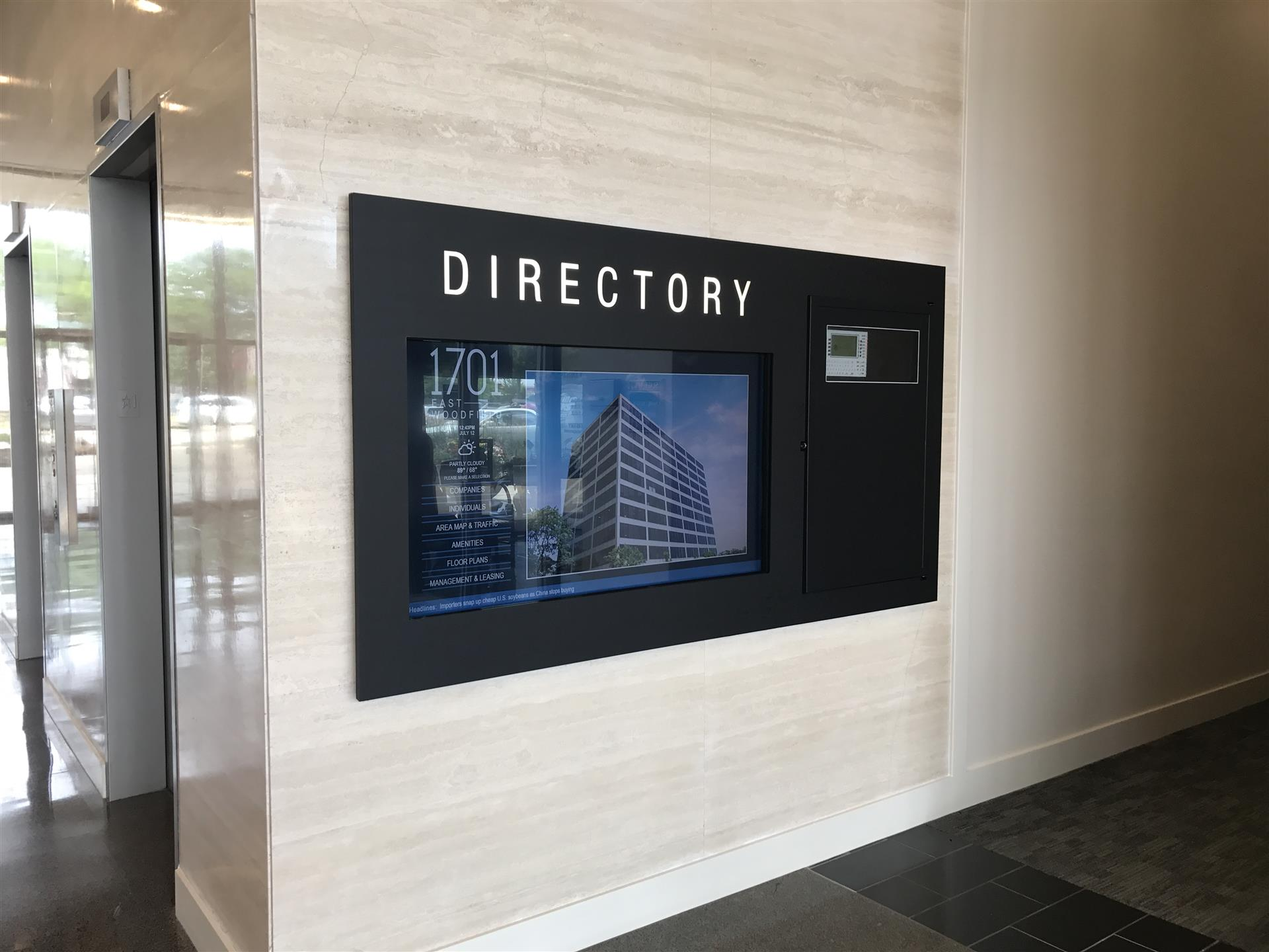 Directory Sign Schaumburg Corporate Center