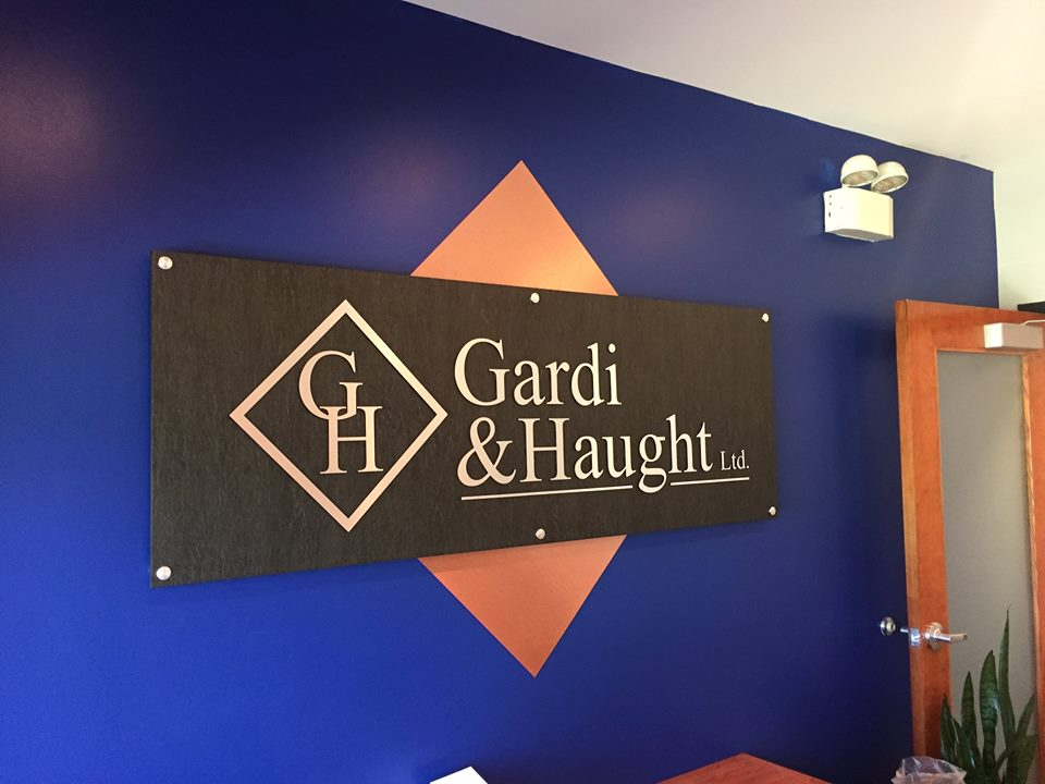 Gardi & Haught Ltd. Lobby Sign