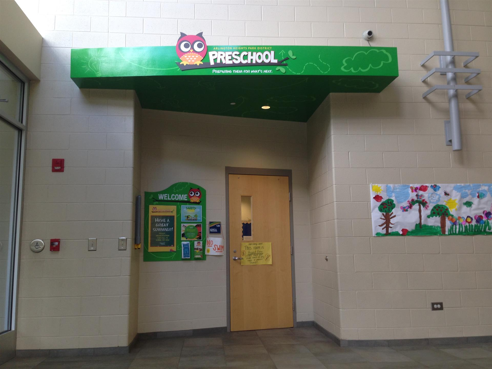School Building Environmental Sign