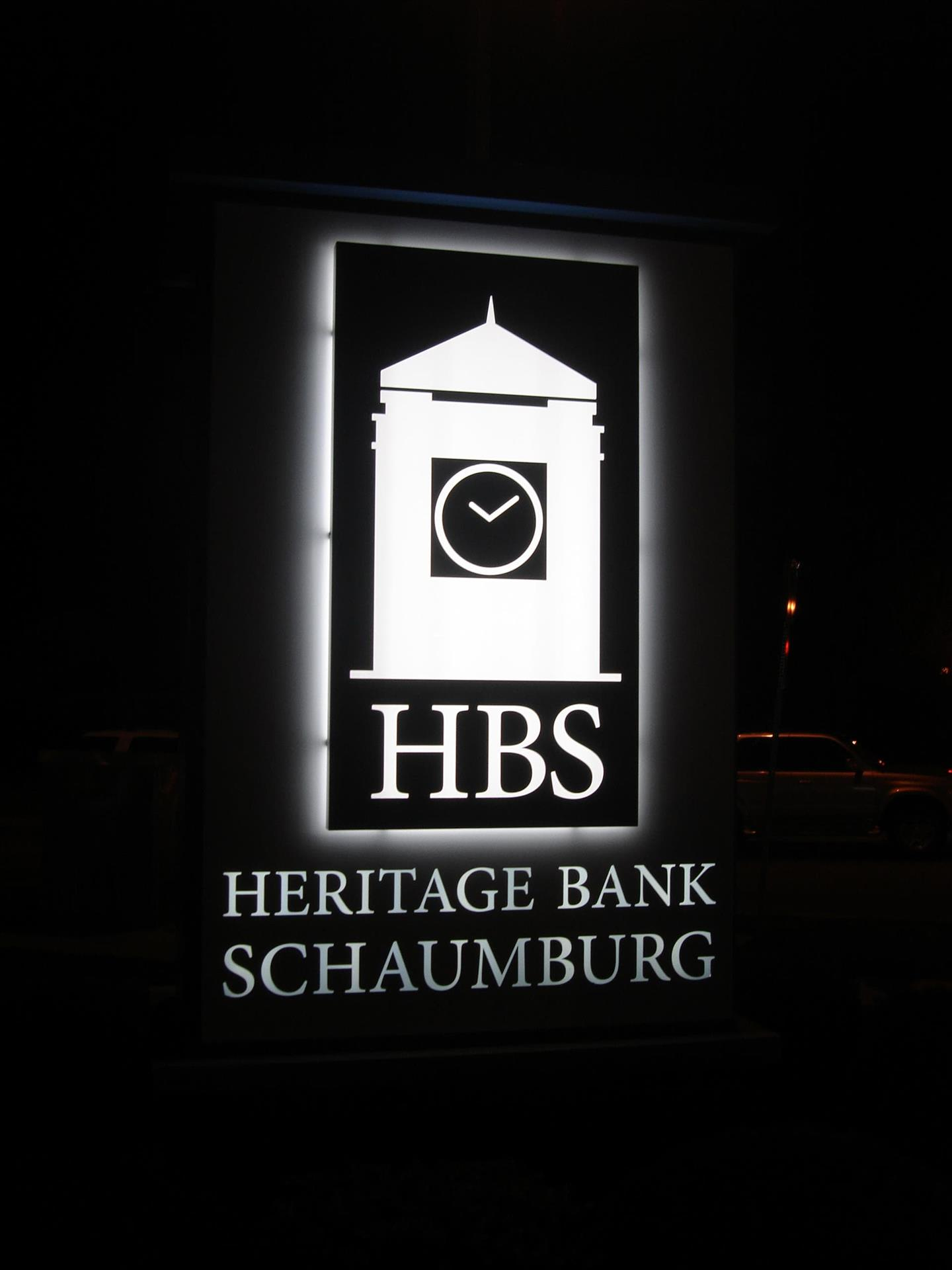 Heritage Bank Schaumburg Exterior Sign