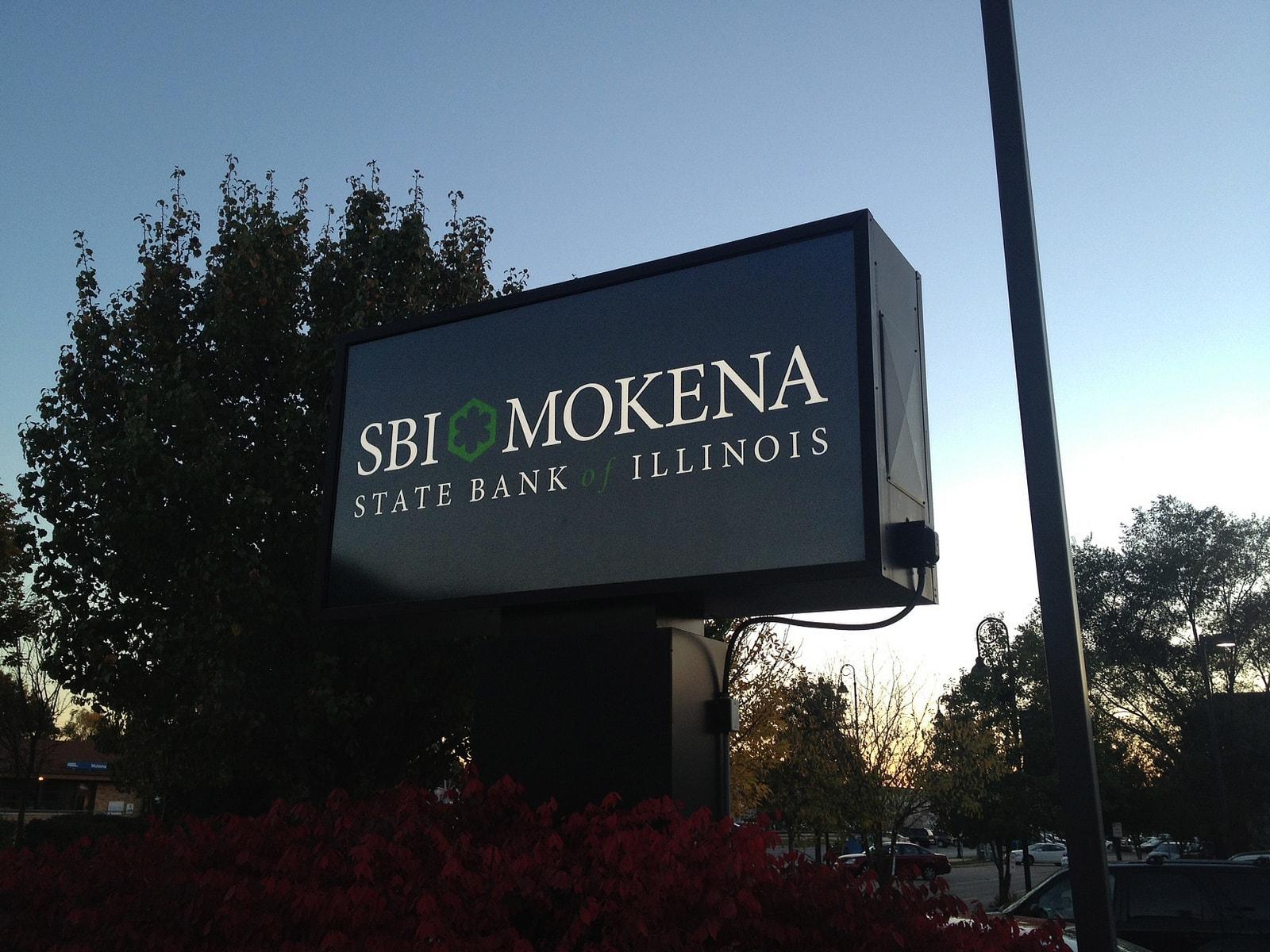 SBI Mokena State Bank Sign