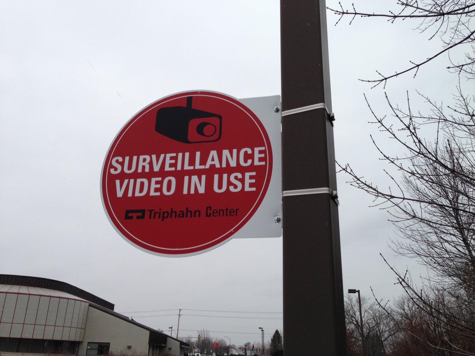 Triphahn Center Video Camera Sign