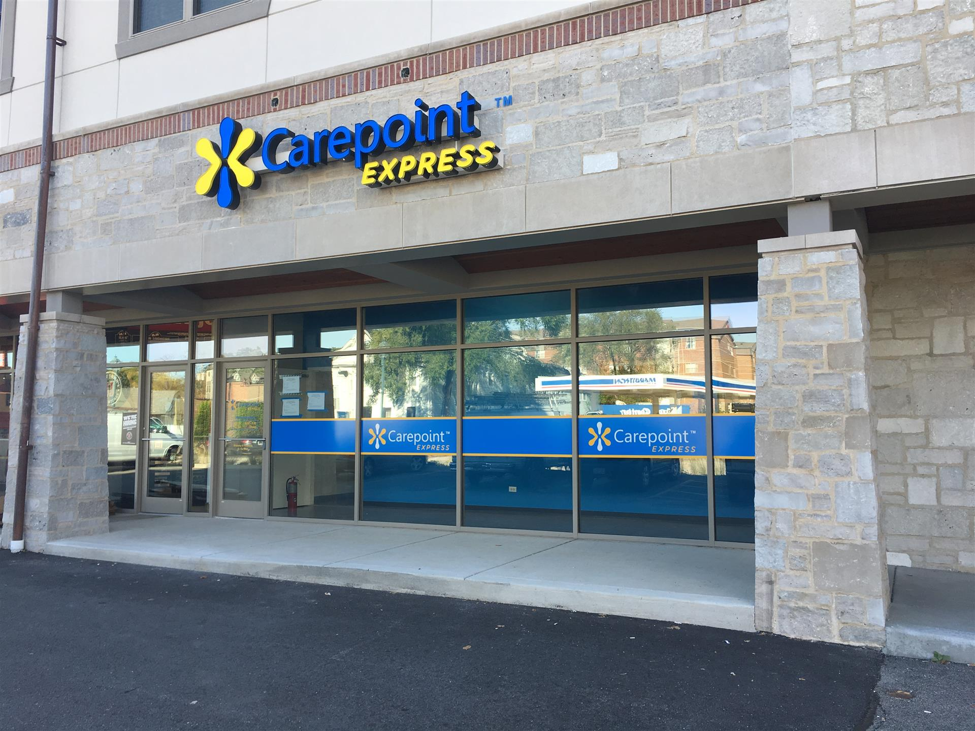 Carepoint Express Window Wall Sign