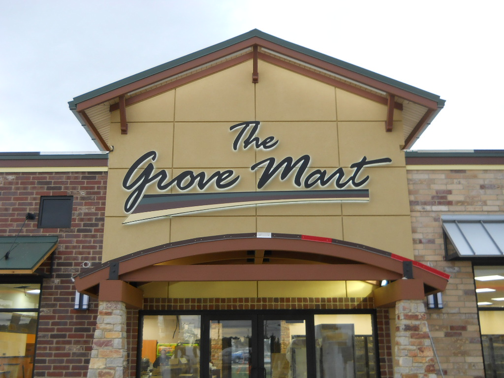 The Grove Mart Wall Sign