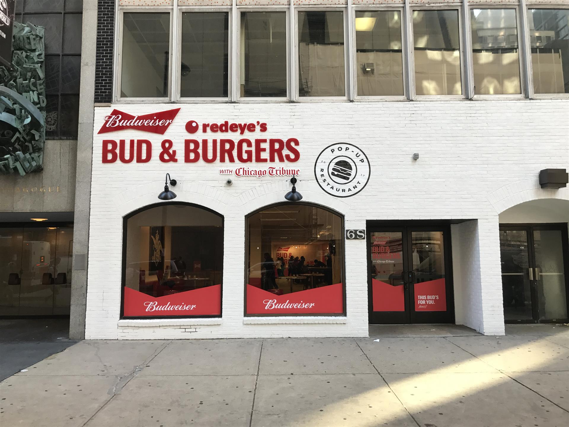 Redeye's Bud & Burgers Wall Sign