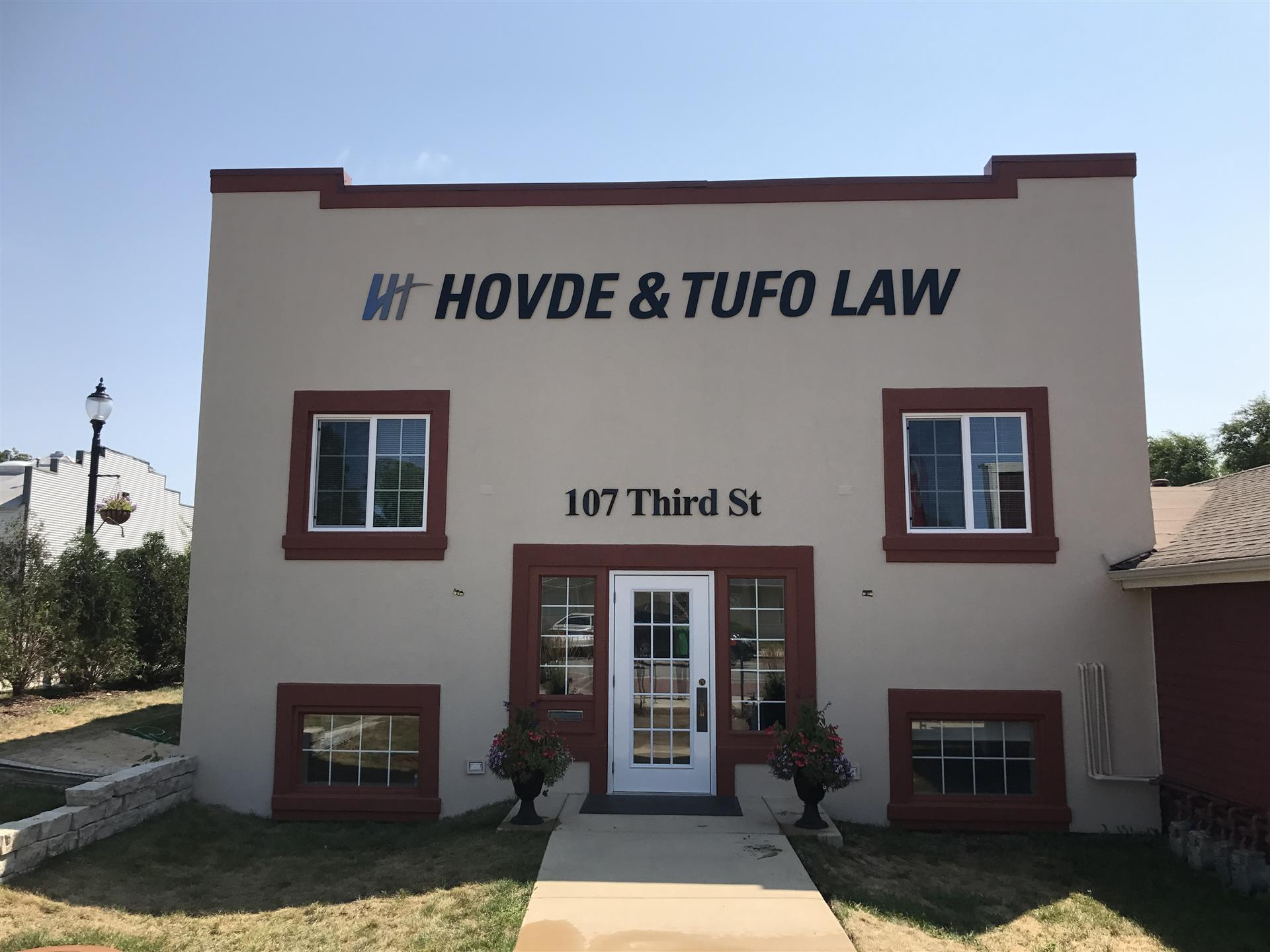 Hovde & Tufo Law Wall Sign