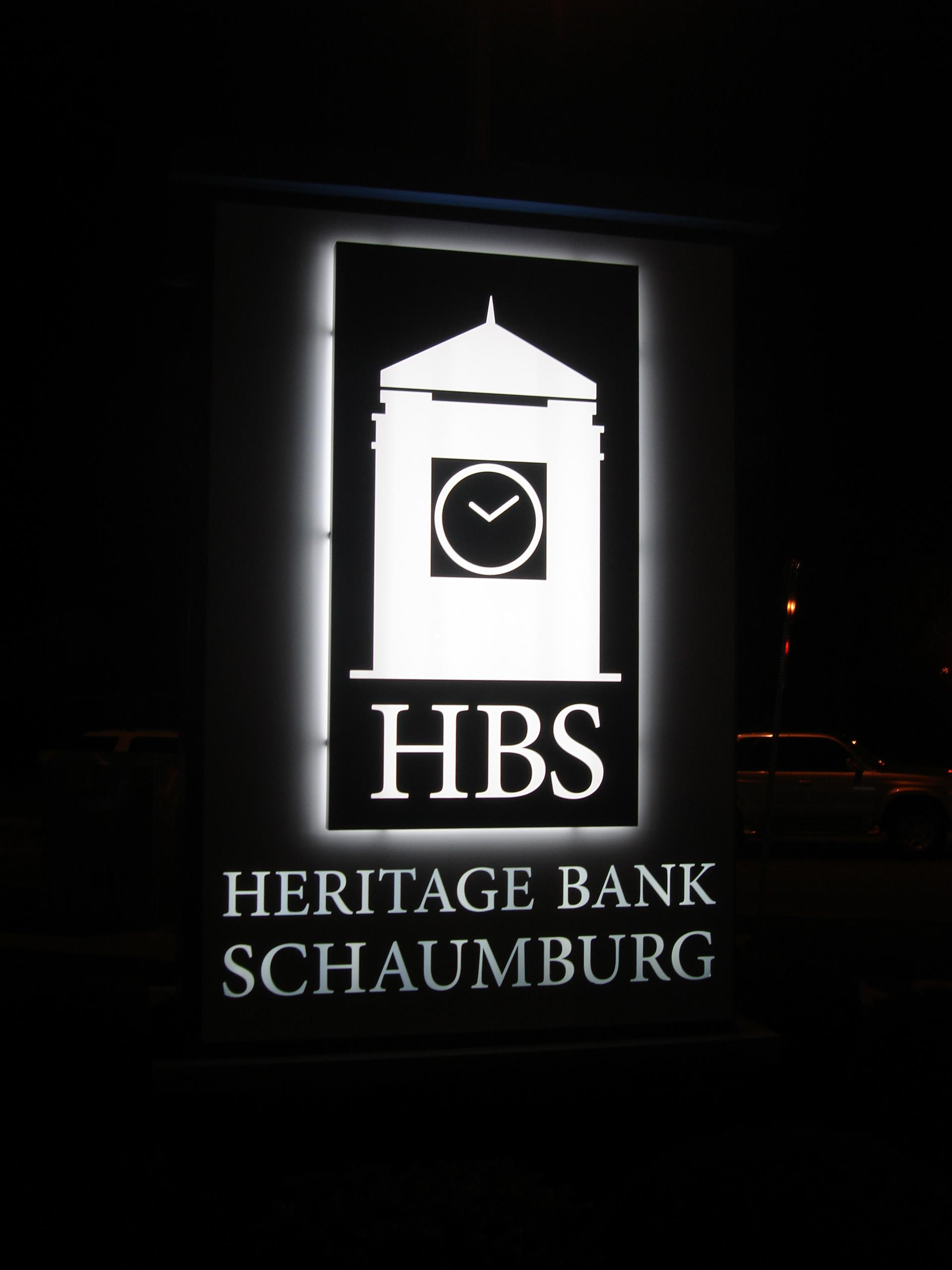 Heritage Bank Schaumburg Monument Sign
