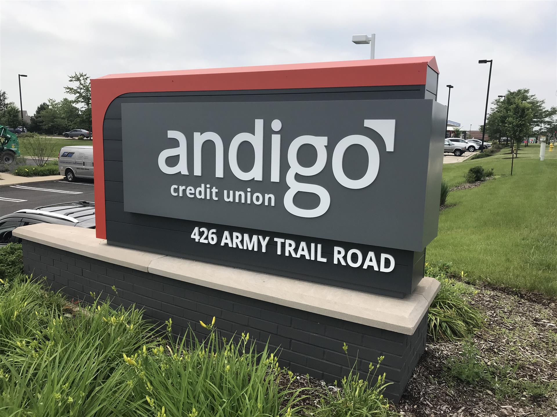 Andigo Credit Union Ground Sign