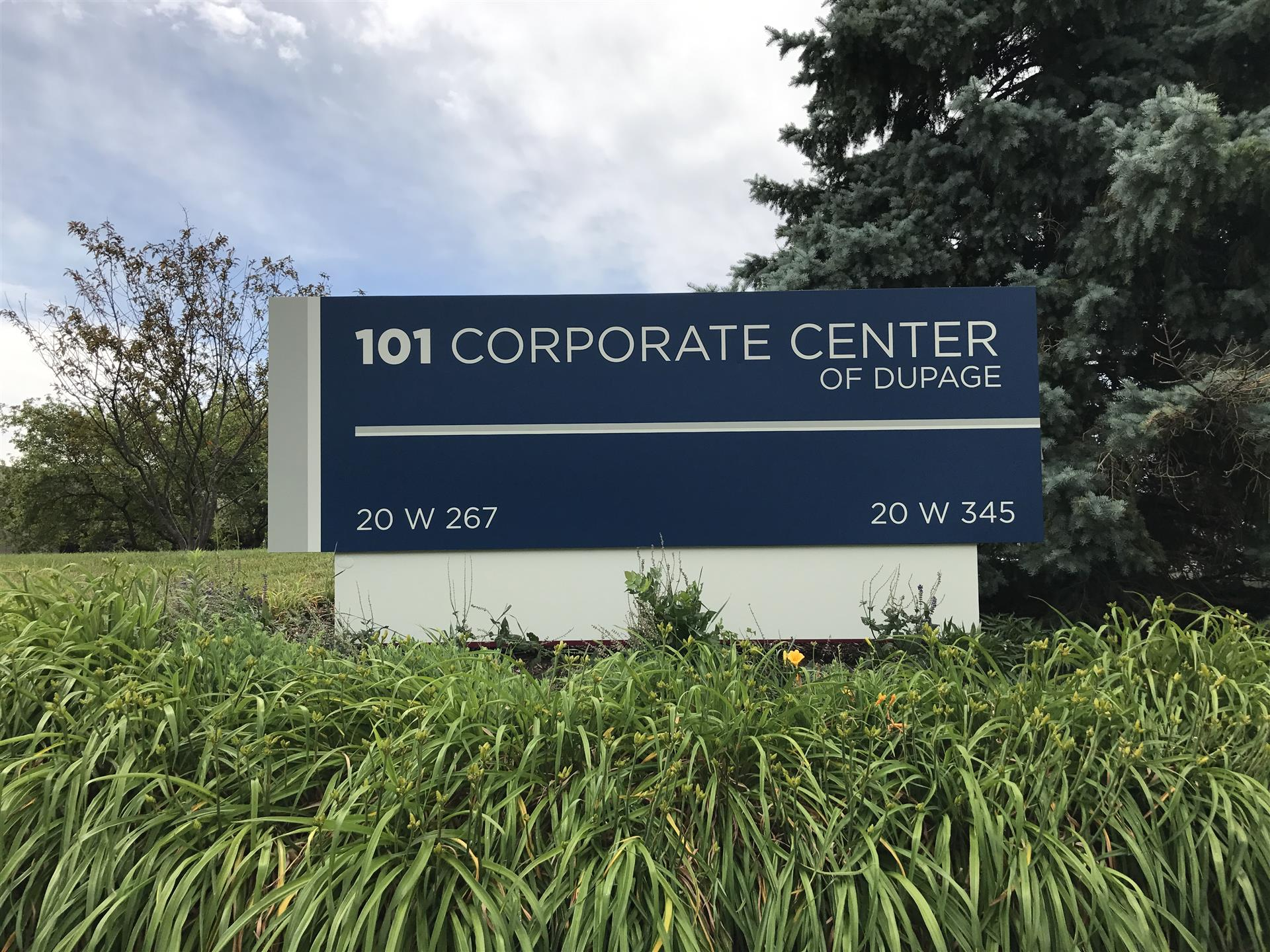 101 Corporate Center of DuPage Monument Sign