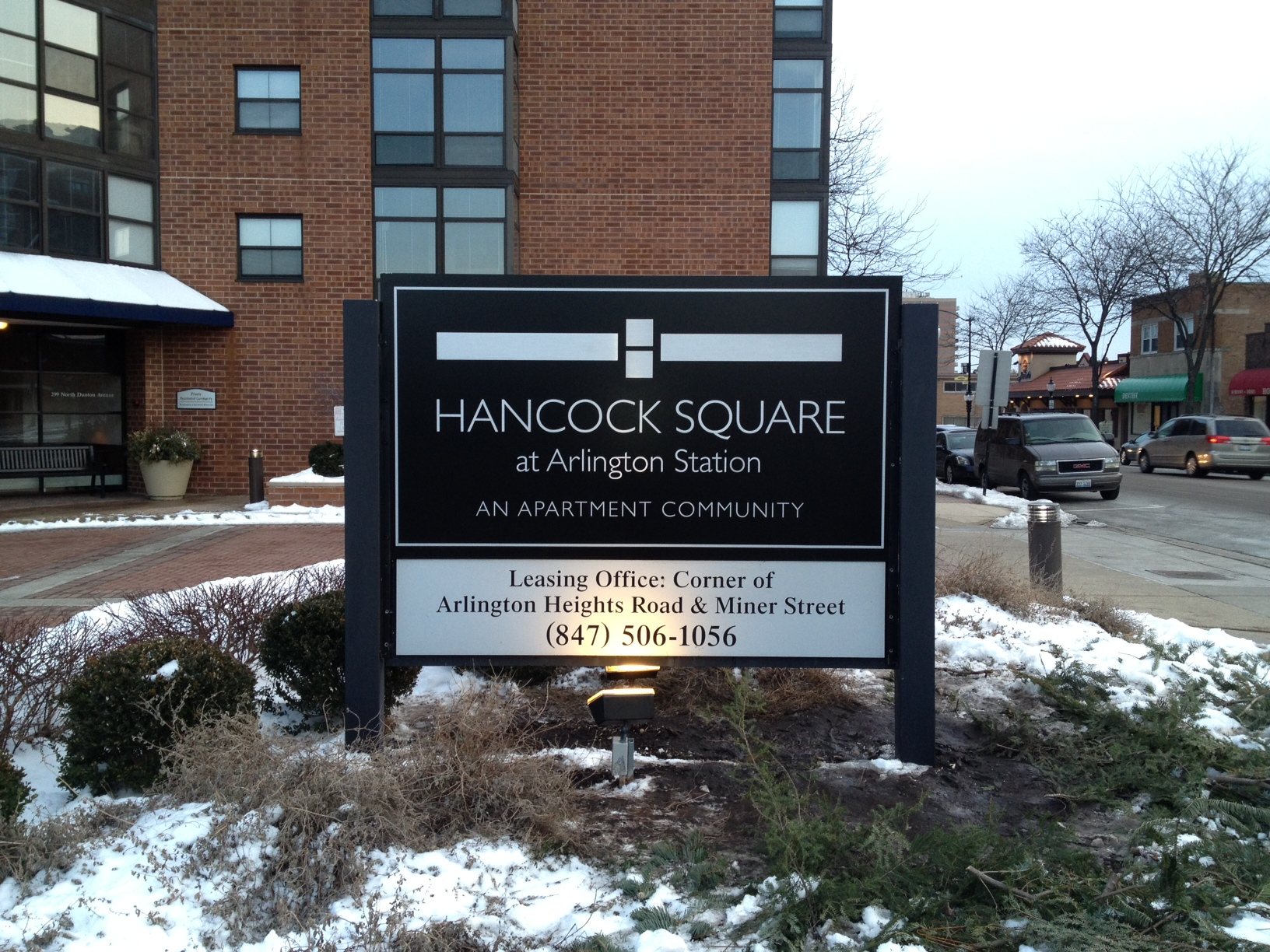 Hancock Square at Arlington Monument Sign