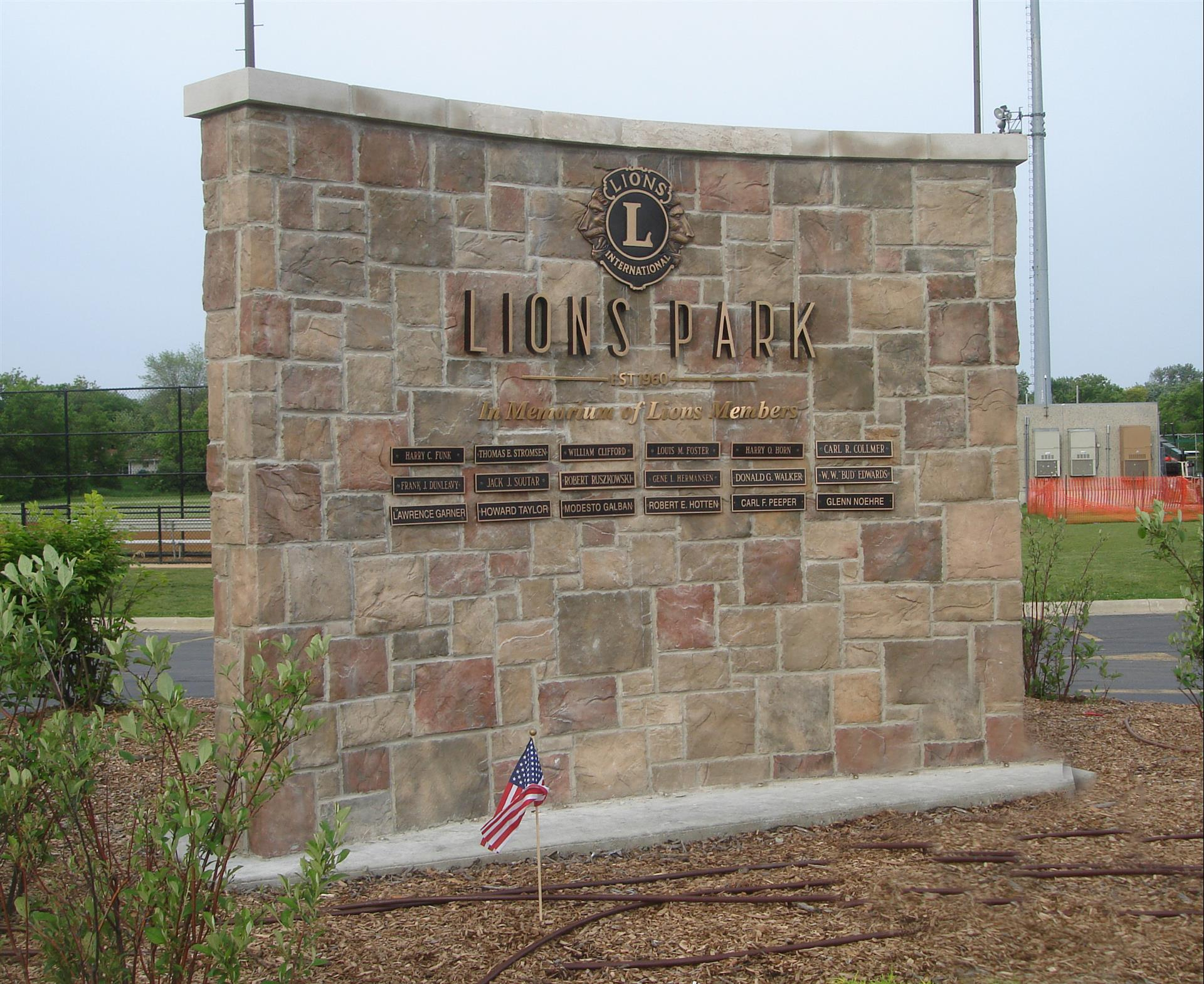 Lions Park Monument Sign