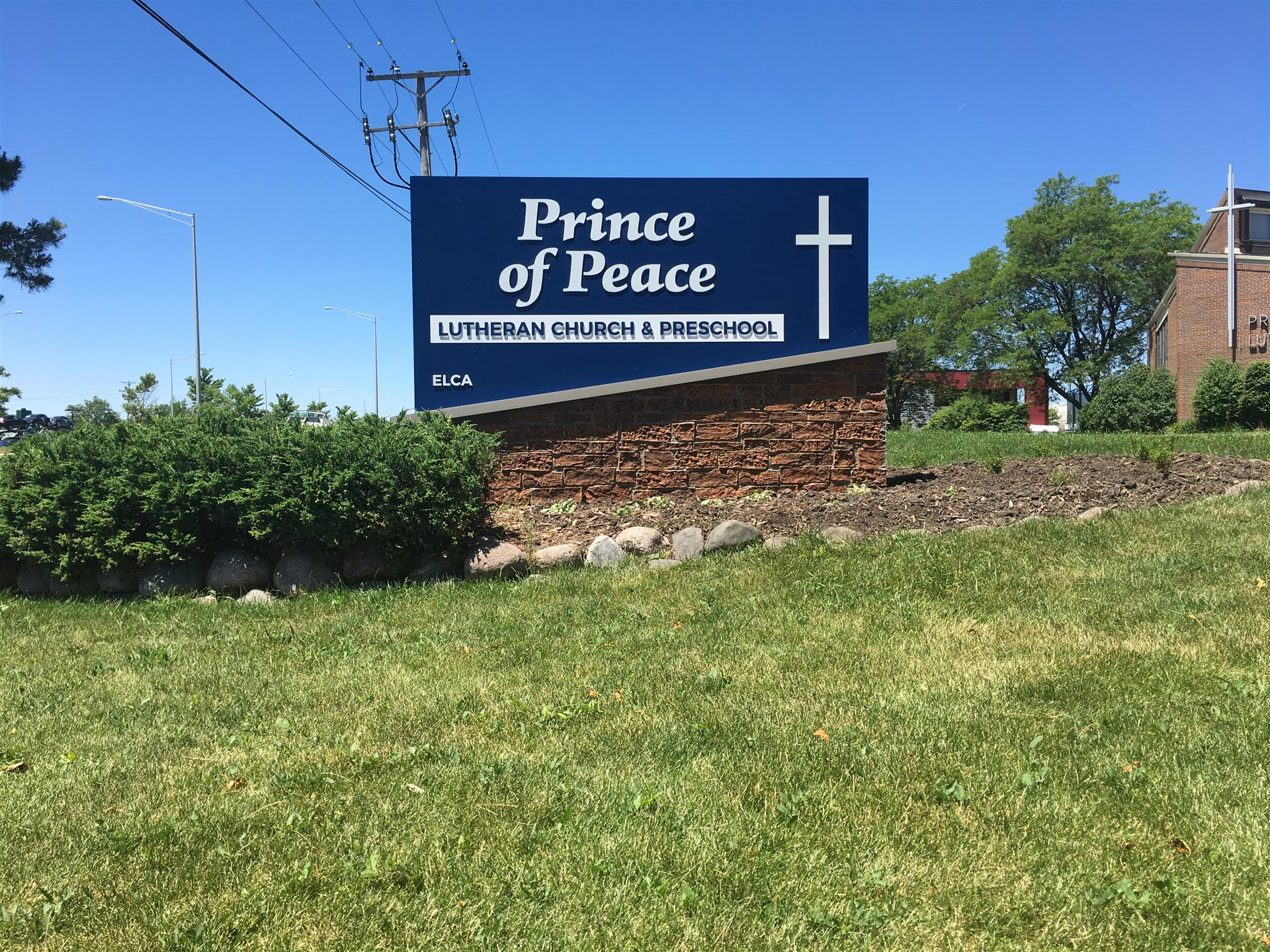 Prince of Peace Church Monument Sign