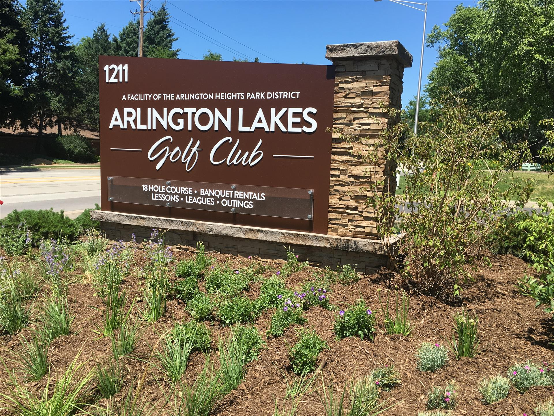 Arlington Lakes Golf Club Monument Sign