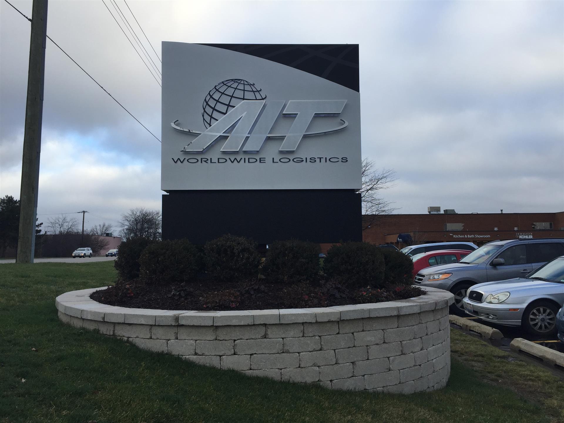 AIT Worldwide Logistics Monument Sign
